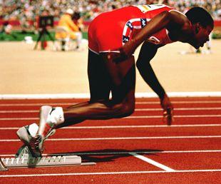 Saída prova atletismo em Olimpíadas 1984.