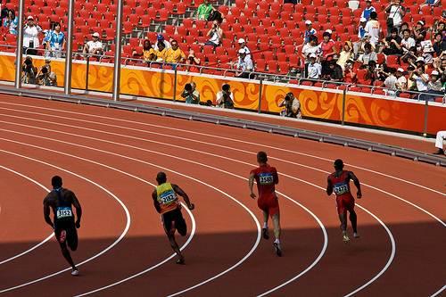 Eliminatória dos 400 metros rasos nas Olimpíadas de Pequim/2008